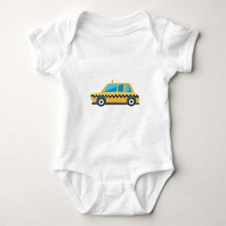 Body Para Bebê Ícone bonito do carro do brinquedo amarelo do