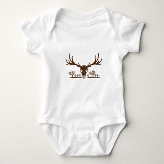 Body Para Bebê Ícone da árvore de Joshua do crânio dos cervos de