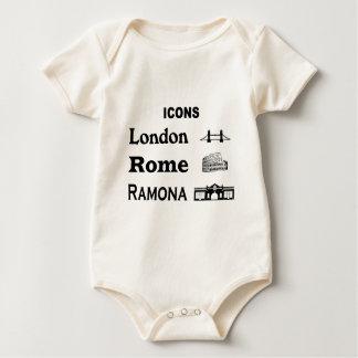 Body Para Bebê Ícone-Londres-Roma-Ramona