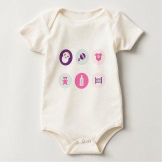 Body Para Bebê Ícones desenhados mão do bebê: Loja criativa do