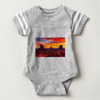 Body Para Bebê Ideia cénico do por do sol sobre o mar