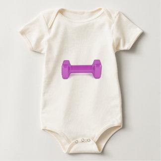 Body Para Bebê Ideia dianteira do dumbbell cor-de-rosa