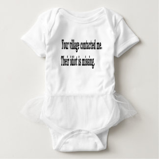 Body Para Bebê Idiota da vila