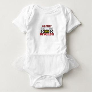 Body Para Bebê igualdade 50 do divórcio 50 da no-falha