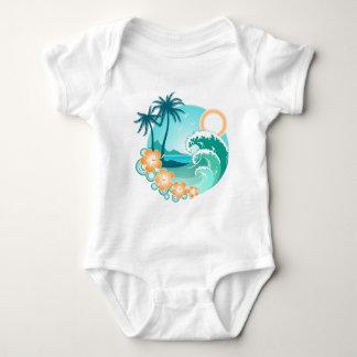 Body Para Bebê Ilha havaiana 1