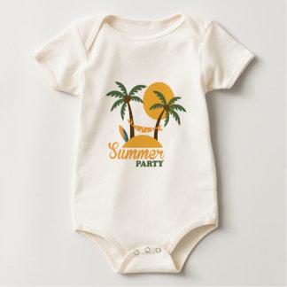Body Para Bebê Ilha tropical do feriado das férias de verão com