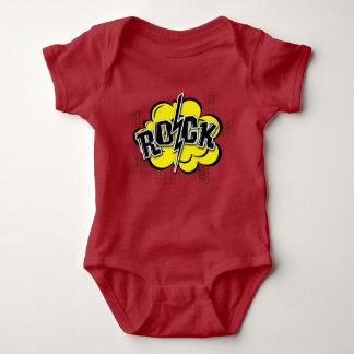 Body Para Bebê Ilustração cómica da rocha do estilo
