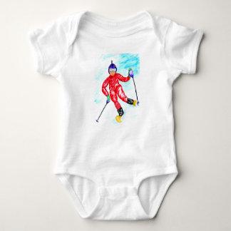Body Para Bebê Ilustração do esporte do esquiador