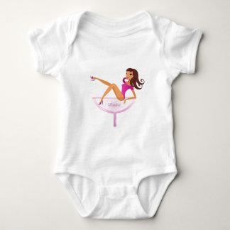 Body Para Bebê Ilustração do original da menina de Martini