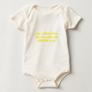 Body Para Bebê Im um bibliotecário não me fazem Shush o