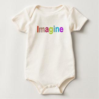 Body Para Bebê Imagine o t-shirt colorido da inspiração do