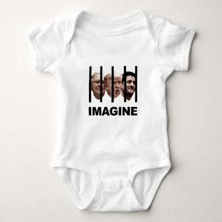 Body Para Bebê Imagine o trunfo, o McConnell e o Ryan atrás dos
