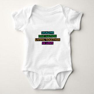 Body Para Bebê Imagine uma nação viver junto no amor