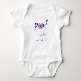 Body Para Bebê Impermeabilize que os sonhos podem vir verdadeiro
