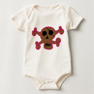 Body Para Bebê Impressão animal orgânico Skully