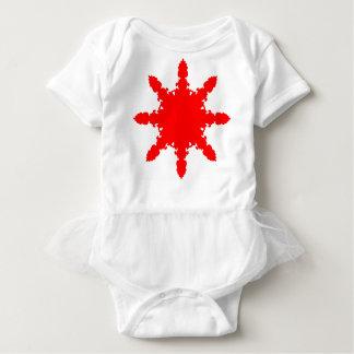 Body Para Bebê Impressão circular vermelho