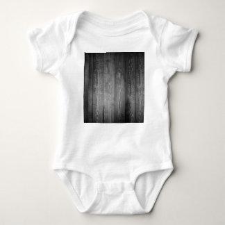 Body Para Bebê Impressão de madeira preto e branco