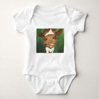 Body Para Bebê impressão de meu título Giz da pintura da vaca um