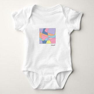 Body Para Bebê Impressão geométrico original com cores pastel