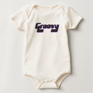 Body Para Bebê Impressão Groovy agradável