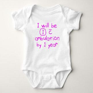 Body Para Bebê independente com escrita pinta do rosa do