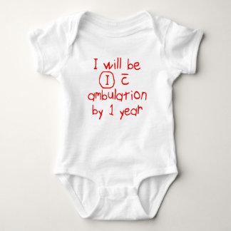 Body Para Bebê independente com escrita vermelha pinta do