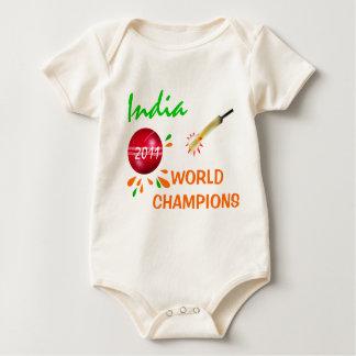 Body Para Bebê India 2011 Creeper dos campeões do campeonato do
