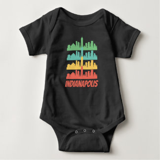Body Para Bebê Indianapolis retro no pop art da skyline