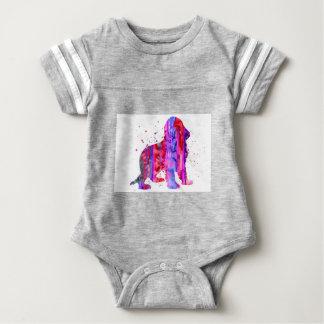Body Para Bebê Inglês cocker spaniel, aguarela cocker spaniel,
