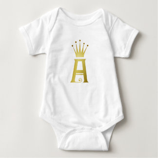 Body Para Bebê Inicial do ouro um Bodysuit da parte superior do