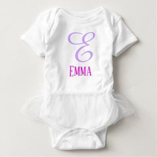 Body Para Bebê Inicial personalizada customizável cor-de-rosa do