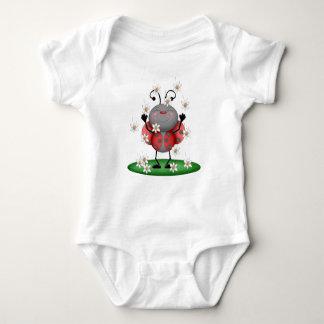 Body Para Bebê Inseto vermelho manchado menina do joaninha da