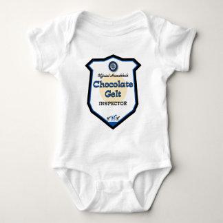 Body Para Bebê Inspector oficial de Gelt do chocolate de Hanukkah