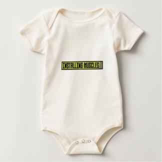 Body Para Bebê Instalando o exercício Zh1sq dos músculos