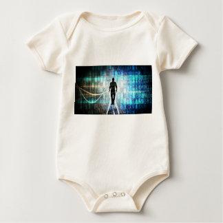 Body Para Bebê Instrução de Digitas como um conceito Backgroun da