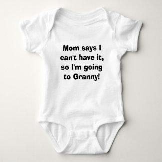 Body Para Bebê Ir à avó
