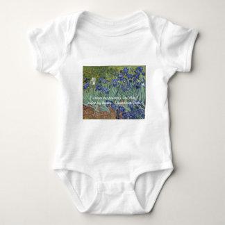 Body Para Bebê Íris de Vincent van Gogh & citações do sonho