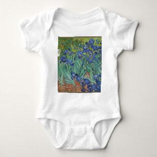Body Para Bebê Íris de Vincent van Gogh que pintam o trabalho de