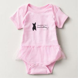 Body Para Bebê irmã do buldogue francês