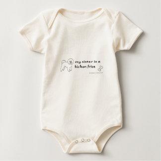 Body Para Bebê irmã do frise do bichon