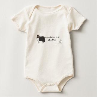 Body Para Bebê irmã do sheltie