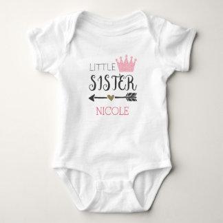 Body Para Bebê Irmã mais nova personalizada