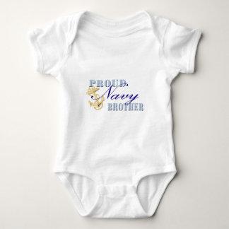 Body Para Bebê Irmão orgulhoso do marinho