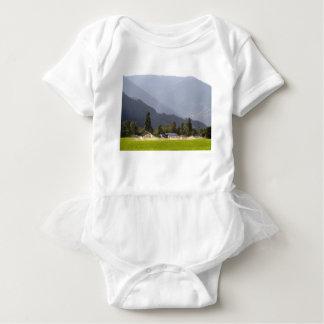 Body Para Bebê Irrigação do Hayfield nas montanhas de BC