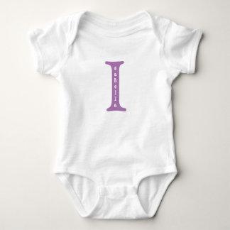 Body Para Bebê Isabella personalizou o bebê um roxo do tshirt da