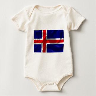 Body Para Bebê Islândia-Bandeira