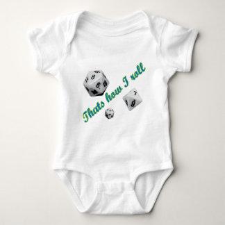 Body Para Bebê Isso é como eu rolo dados