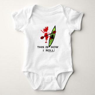 Body Para Bebê Isto é como eu rolo (o caiaque)