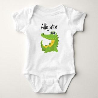 Body Para Bebê Jacaré verde pequeno