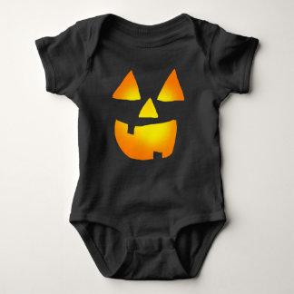 Body Para Bebê Jackolantern de incandescência enfrenta a roupa do